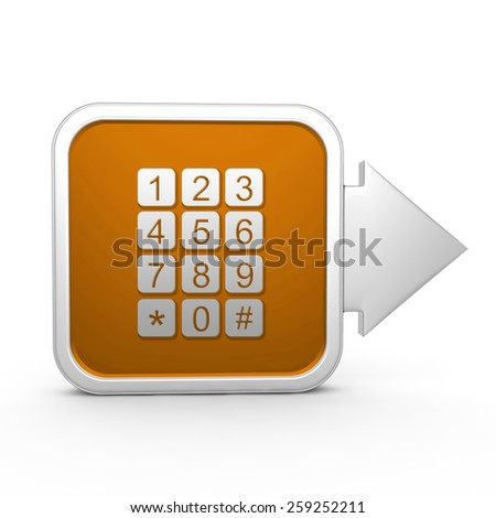 calls square icon on white background