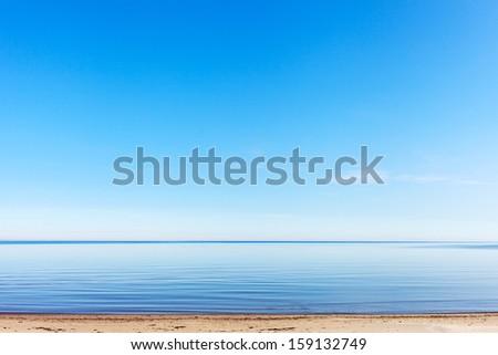 Calm and blue Baltic dea. - stock photo