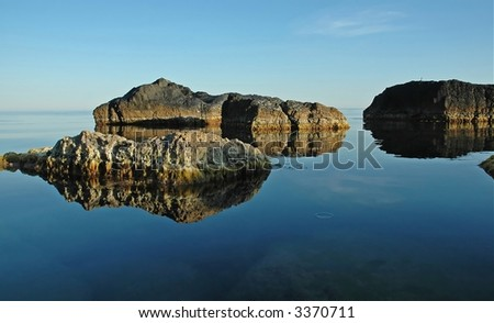 Calm and Meditation. Zen sea view. - stock photo