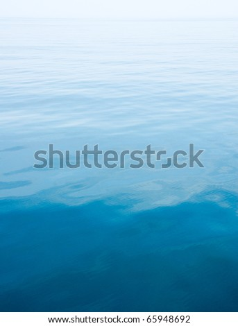 calm, blue surface of the Atlantic Ocean