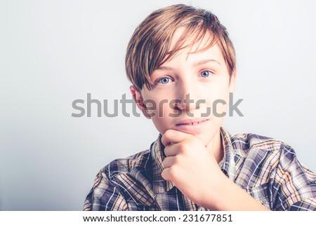calm boy - stock photo