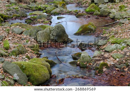 Calm creek - stock photo