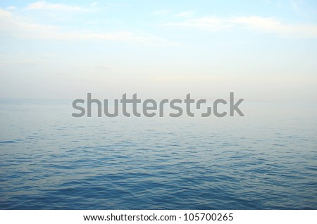 calm on the sea - stock photo
