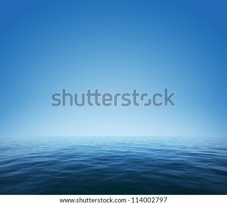 Calm sea and blue clear sky