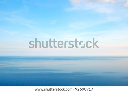 calm sea with nice blue sky - stock photo