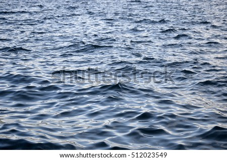 Calm sea with small waves