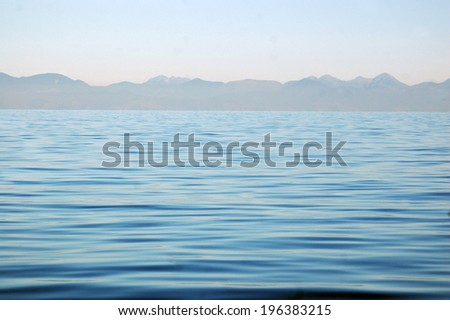 Calm seas of the Abel Tasman National Park, South Island, New Zealand - stock photo