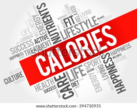 CALORIES word cloud, fitness, sport, health concept - stock photo