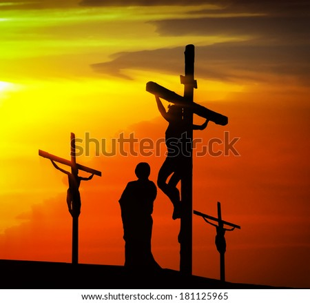 Calvary crucifixion - stock photo