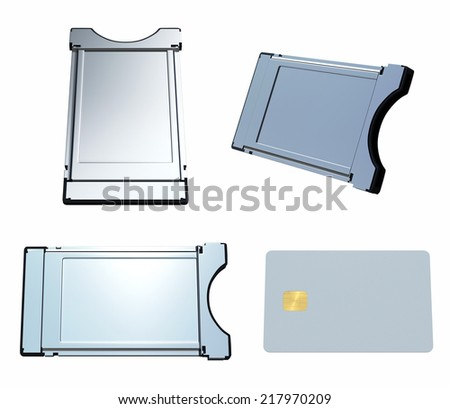 CAM isolated on white. Clipping paths - stock photo