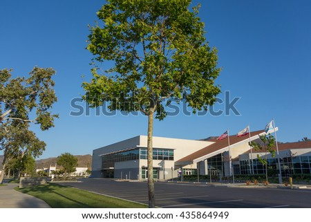 CAMARILLO, CA - JUNE 3, 2014: Ventura County Office of Education, Conference & Educational Services Center on Adolfo Street in city of  Camarillo, California