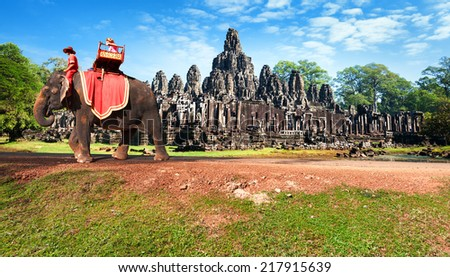 Cambodia, Siem Reap, Angkor wat khmer temple  - stock photo