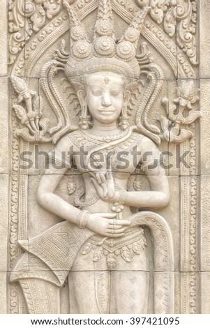 cambodia statue - stock photo