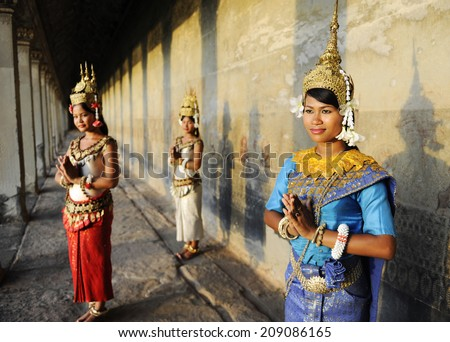 Cambodian greeting style - stock photo