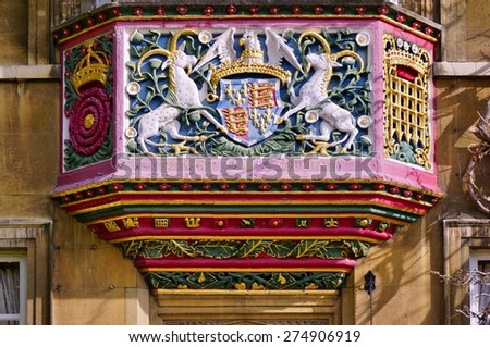 CAMBRIDGE, ENGLAND -15 MARCH 2015- Editorial: Founded in 1505 by Lady Margaret Beaufort, Christs College has educated some of the most famous Cambridge alumni, including Charles Darwin. - stock photo