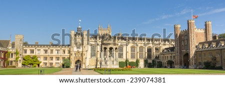 CAMBRIDGE, ENGLAND, UK - OCTOBER 21, 2014: College of Corpus Christi and the Blessed Virgin Mary in Cambridge - stock photo