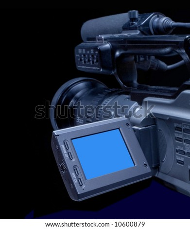 Camcorder for professionals - stock photo