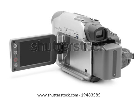 Camcorder isolated - stock photo