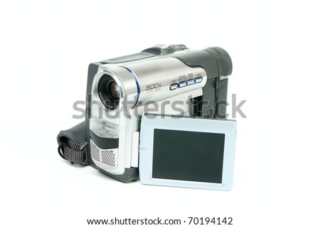 Camcorder isolated on white background