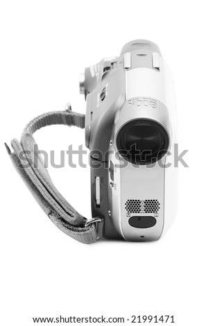Camcorder isolated over white background