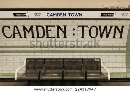 Camden Town Underground station in London - stock photo
