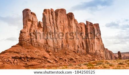 Camel Butte, Monument Valley - Navajo Tribal Park, Arizona - stock photo