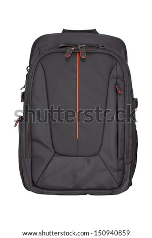 Camera Bag isolate on a white background. - stock photo