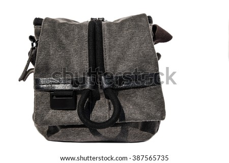 Camera bag, isolated on white background