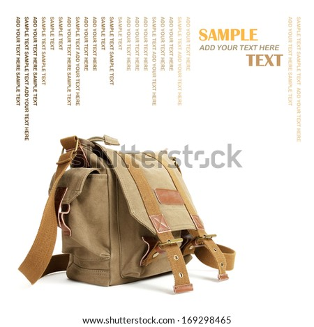 Camera bag on a white background  - stock photo