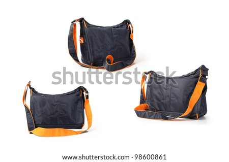 camera bag on a white background. - stock photo