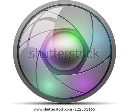 Camera button - stock photo
