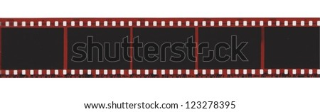 Camera film strip isolated on white - stock photo