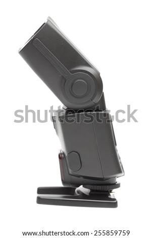 camera flash on the white background