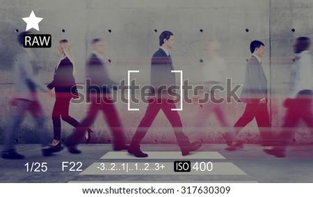 Camera Focus Capture Memories Photography Preview Concept - stock photo