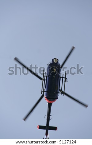 Camera Helicopter from right below view. - stock photo