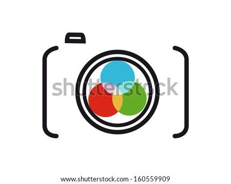 camera ICON - stock photo