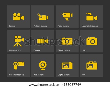 Camera icons. See also vector version. - stock photo