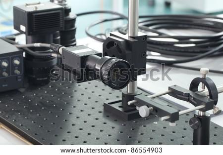 Camera inspection control - stock photo