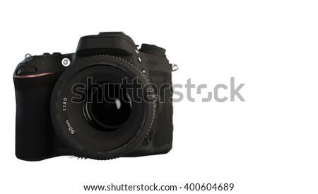 Camera isolated o white background 3d illustration - stock photo