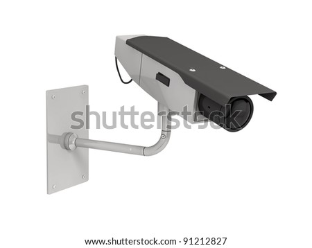 camera isolated on white background