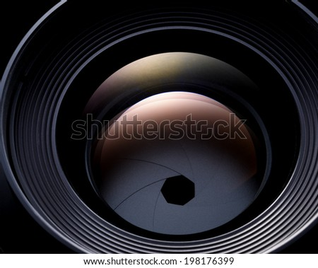 camera lens abstract - stock photo