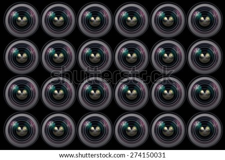 Camera Lens all background - stock photo