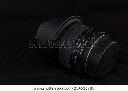 Camera lens details close-up - stock photo
