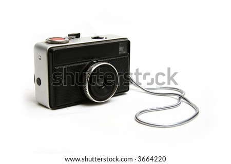 camera on white - stock photo