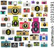 camera pattern ,retro and vintage style - stock vector