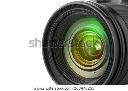 Camera photo lens - stock photo