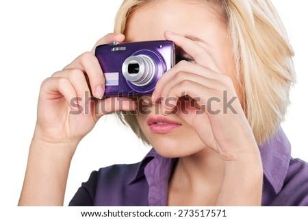 Camera, Photographing, Digital Camera. - stock photo