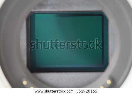 Camera sensor - stock photo