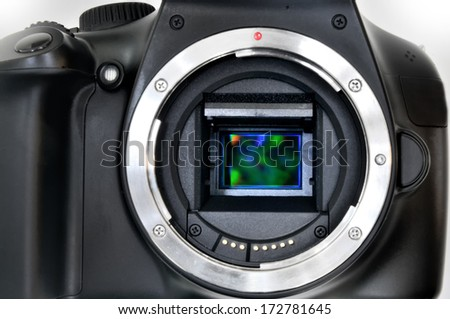 Camera sensor CCD or Cmos closeup - stock photo