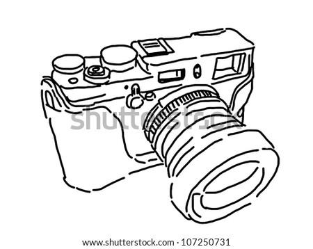 Camera Drawings Camera Vintage by Hand Drawing